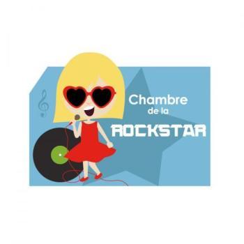 Plaque de porte Rockstar Fille