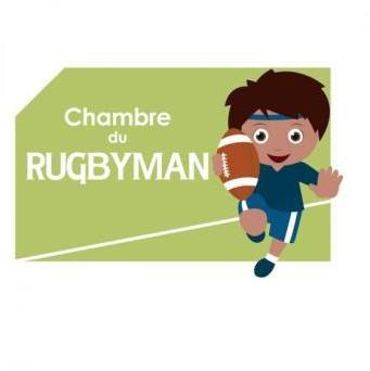 Plaque de porte Rugbyman