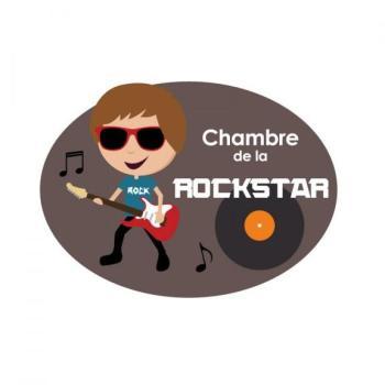 Plaque de porte Rockstar Garçon