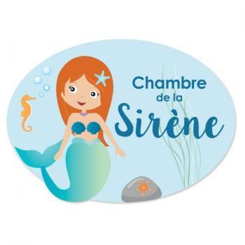 Plaque de porte Sirène