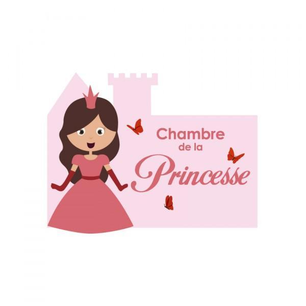 Plaque de porte Princesse