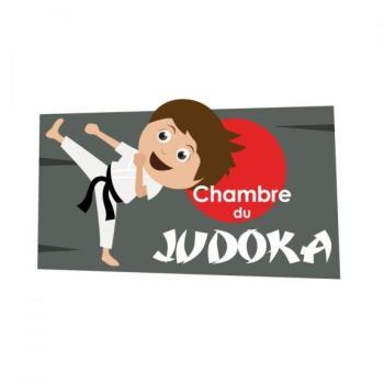Plaque de porte Judoka