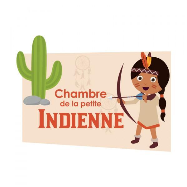 Plaque de porte Indienne