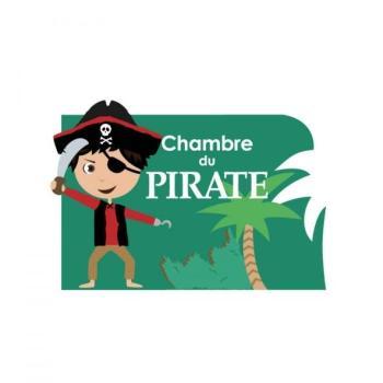 Plaque de porte Pirate