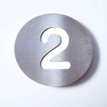 Numéro de maison Round en