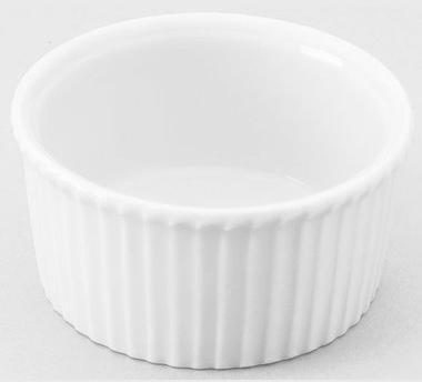 Ramequin plissé blanc 15cl