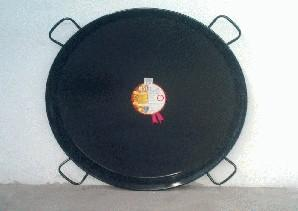 Poêle à paella acier émaillé