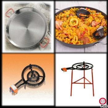 Kit à Paella pro acier pour
