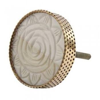 Bouton de meuble Rose sculptée