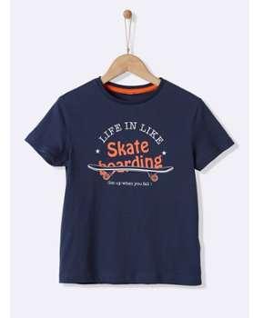 T-shirt fantaisie garçon marine