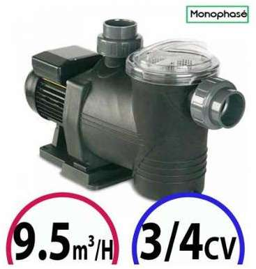 Astralpool pompe filtration astral europa 15 cv mono 219 m3 h for Pompe piscine 80m3