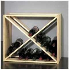 Porte-bouteilles bois 40 bouteilles
