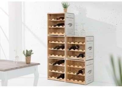 Casier à vin en bois gris
