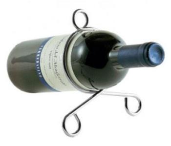 Porte bouteilles en inox -