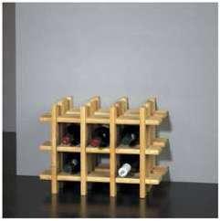 Porte-bouteilles bois 9 bouteilles