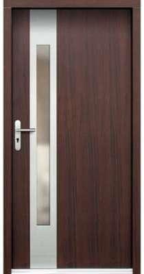 Porte d entrée en bois BRESTUM