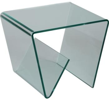 Porte revues design en verre
