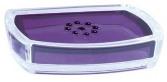 Porte-savon violet et transparent