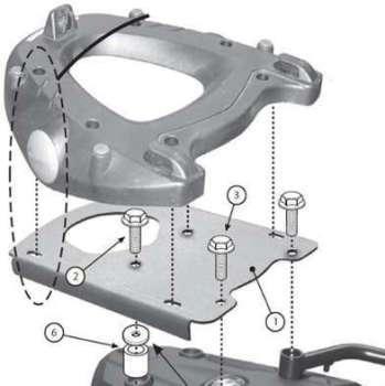 Givi SR5107 Rear-Rack - Monokey