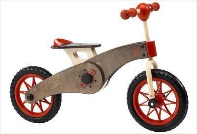 Tricycle en bois et draisienne