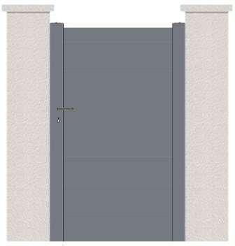 Portillon aluminium en KIT