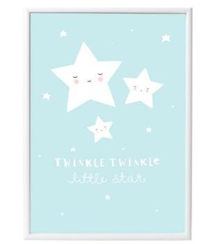 Poster étoiles Bleu