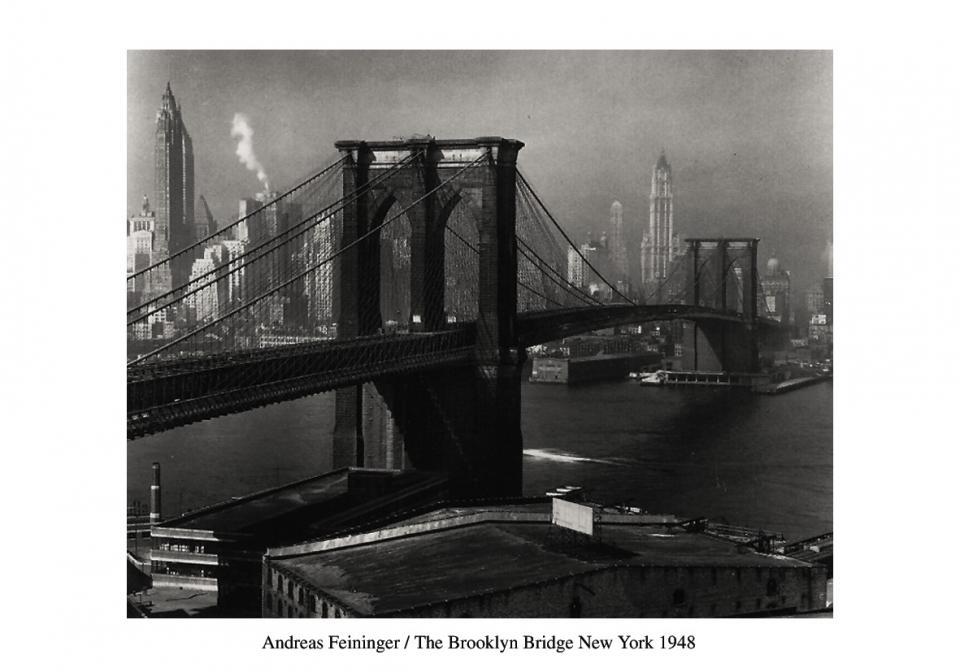 Affiche le pont de Brooklyn