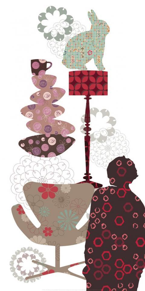 Affiche Pile et Patch Lapin