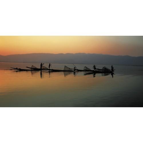 Affiche Pêcheurs sur le lac