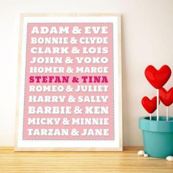 Poster personnalisé Couples