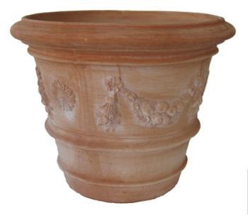 Pot Toscane décoré en terre