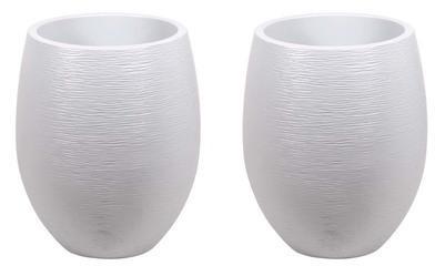Pot à fleurs Egg - Blanc Cérusé