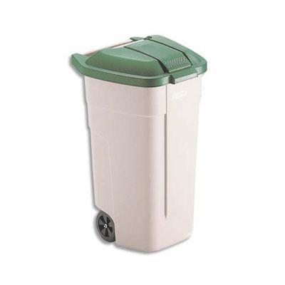 Couvercle vert pour conteneur
