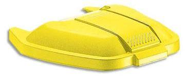 Couvercle jaune pour conteneur