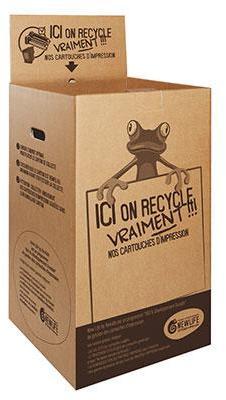 Boîte de recyclage pour cartouches