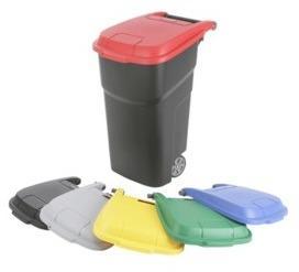 Poubelle plastique à roues