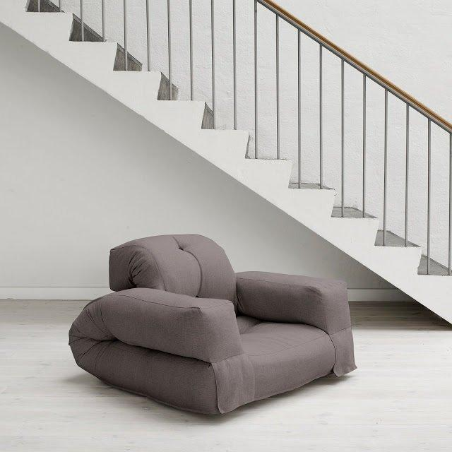 Fauteuil lit HIPPO futon gris