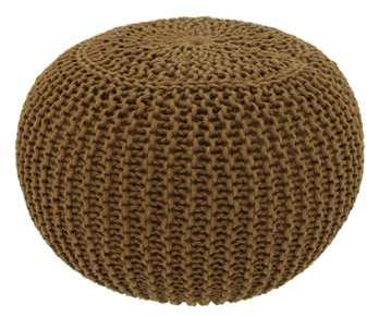 Potiron - Pouf Tresse brun