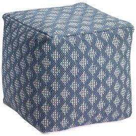 Pouf déhoussable tissage crochet