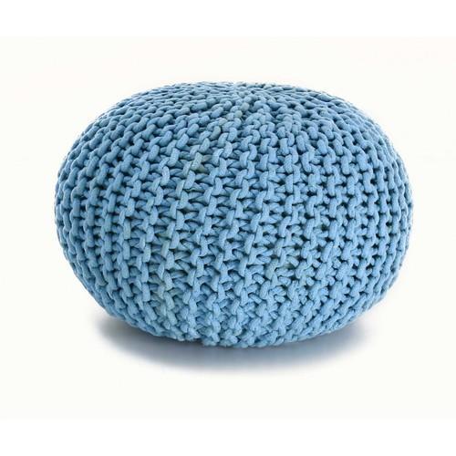 Pouf tricoté coton Stitch