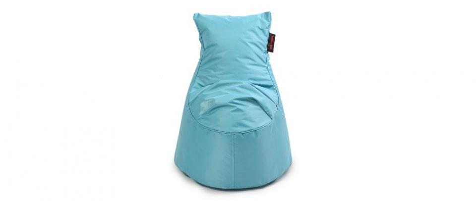 Pouf design polyester bleu