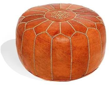 Pouf design cuir marocain