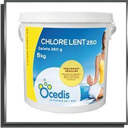 Chlore lent 250 seau 5Kg Océdis