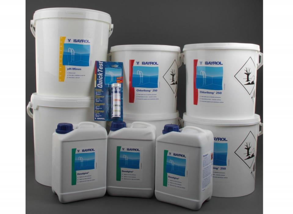 Bayrol chlorilong 250 seau de 5 kg for Produit piscine bayrol
