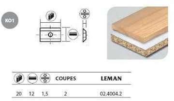 Leman - 10 Plaquettes réversibles