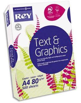 Papier blanc Rey Text and