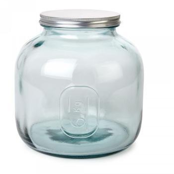 Bocal en verre recyclé avec