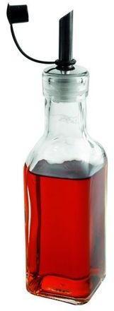 Bouteille huile en verre carrée