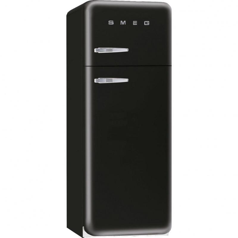 Smeg fab30 r frig rateur noir laqu charni re c t droit for Prix d un congelateur