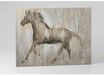 Toile cheval beige 120x90